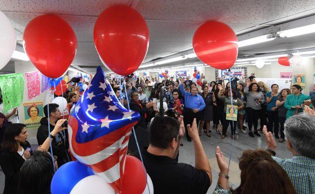 V osmih zveznih državah so izbirali kandidate za novembrske volitve. FOTO: AFP