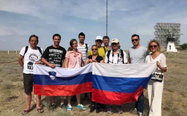 Slovenci v Bajkonurju. FOTO: Društvo Slovenija Rusija