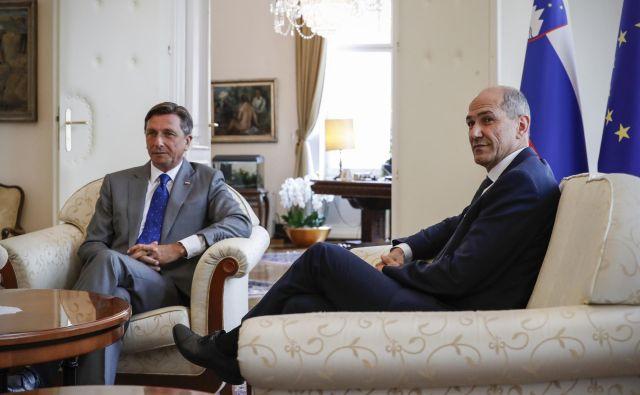 Borut Pahor je napovedal, da bo mandat podelil Janezu Janši. FOTO: Uroš Hočevar
