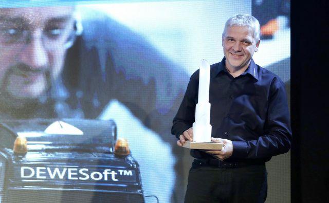 Lanski prejemnik nagrade Delova podjetni�ška zvezda Andrej Orožen, soustanovitelj in direktor podjetja Dewesoft.<br /> Foto Blaž Samec