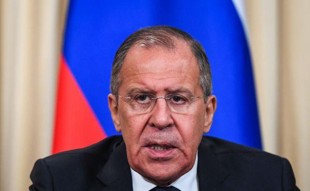 Rusija je zadovoljna, da sodeluje v okviru G20, je zatrdil Lavrov. FOTO: Kirill Kudryavtsev/AFP