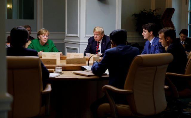 Vrh G7 je bil zaznamovan z vojno besed med ZDA in zavezniki. FOTO: Reuters