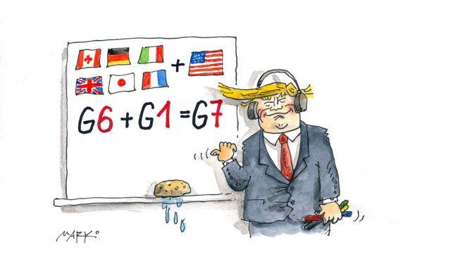 G-matematik. Karikatura: Marko Kočevar