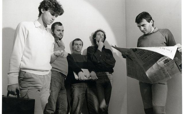 Lačni Franz je bila skupina z zelo nenavadnimi besedili Zorana Predina.<br /> Foto Miran Mišo Hochstätter