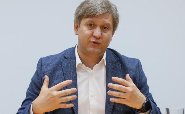 Odstavljeni ukrajinski finančni minister Daniljuk pojasnjuje, pod kakšnimi pritiski je bil. FOTO: Reuters