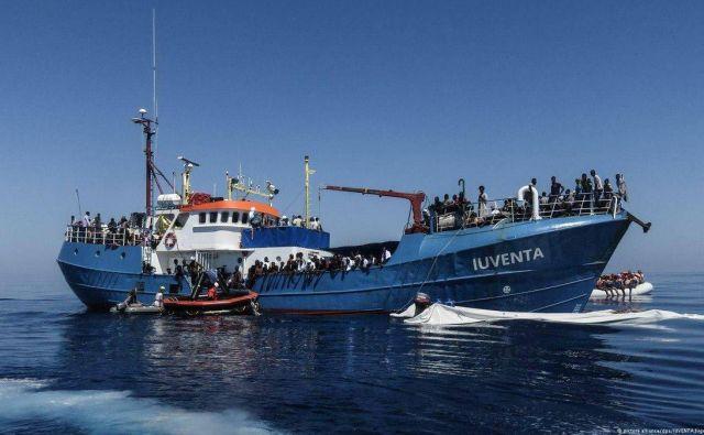Zasežena nemška ladja. Foto Twitter