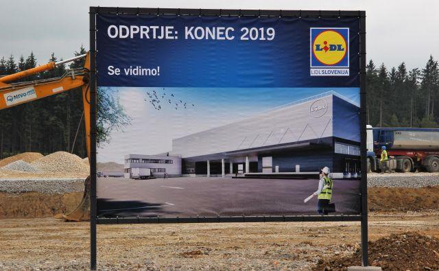 Gradnja Lidlovega logističnega centra za vso Slovenijo v Arnovskem gozdu