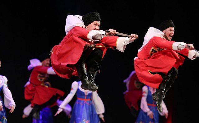Prizor s predstave Ruskh kozakov. FOTO: promocijsko gradivo