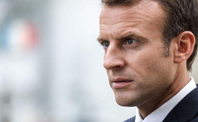 Emmanuel Macron je v torek Italijo obtožil neodgovornega ravnanja v zvezi z ladjo Aquarius. FOTO: Ludovic Marin/AFP