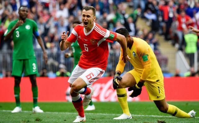 Denis Čerisev se je pred začetkom SP veselil uvrstitve v rusko reprezentanco, niti v sanjah pa ni pričakoval, da bo že v prvi tekmi najboljši igralec.