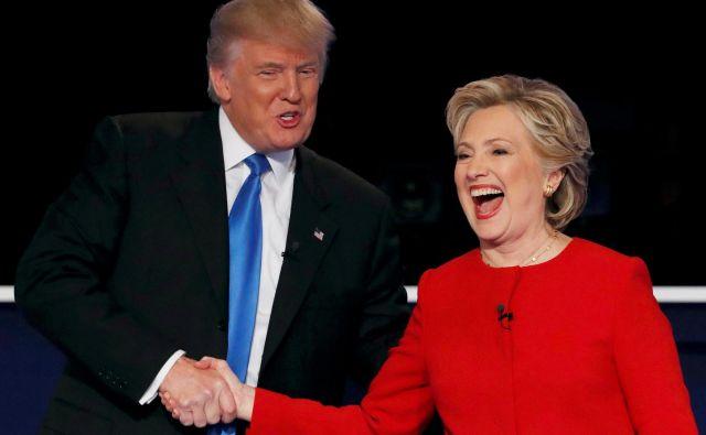 Donald Trump in Hillary Clinton sta se leta 2016 borila za predsedniški stolček. FOTO: Reuters
