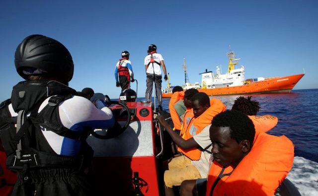 Težava za migrante na Aquariusu (še) ni rešena. FOTO:Tony Gentile/Reuters