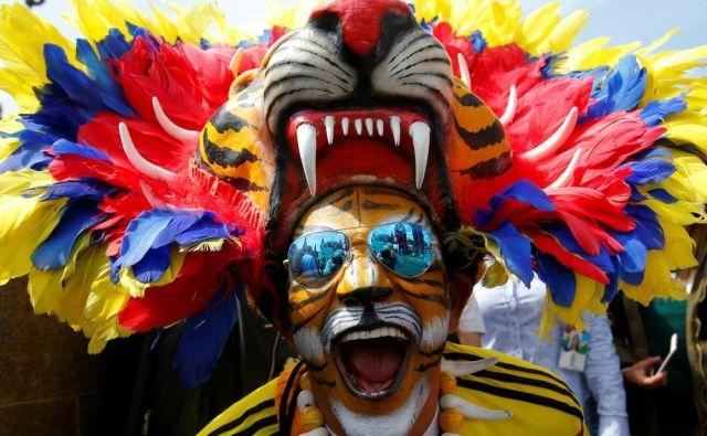 Vročekrvni navijač Kolumbije.