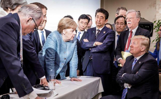 Posnetek z vrha G7 v Quebecu Foto Reuters
