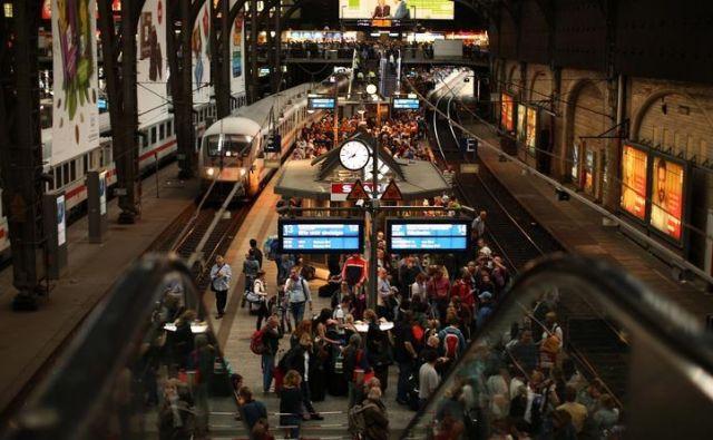 Železniška postaja v Hamburgu, Foto Reuters