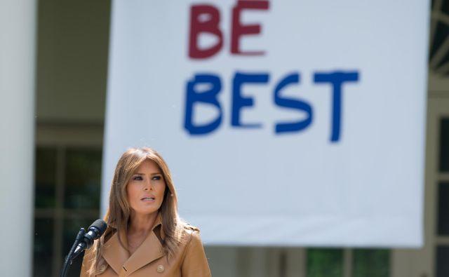 Melania Trump verjame, da so ZDA država, ki mora spoštovati vse zakone, a tudi država, ki vlada s srcem. FOTO: AFP