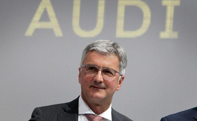 Izvršni direktor Audija Rupert Stadler je v škripcih. FOTO: AFP