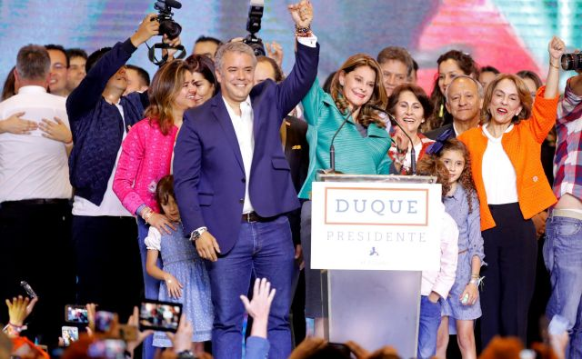 Ivan Duque je novi kolumbijski predsednik. FOTO: Reuters