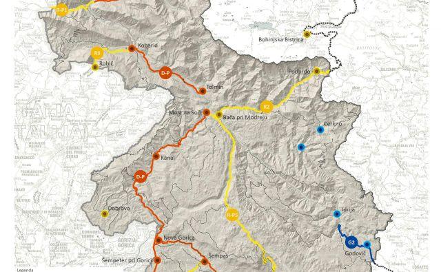 Občine predvidevajo za 170 kilometrov kolesarskih povezav. Foto Icra