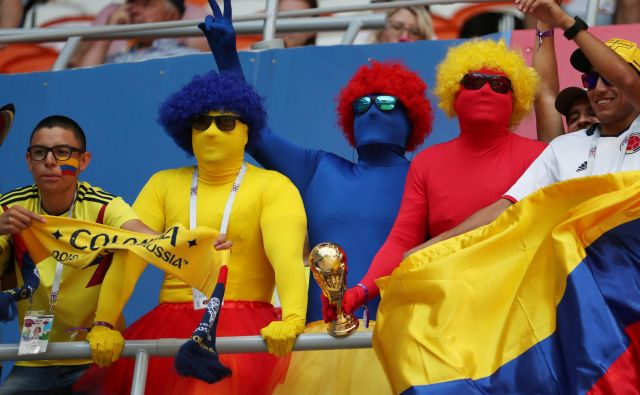 Kolumbijski navijači so v Saransk pripotovali zelo optimistični.