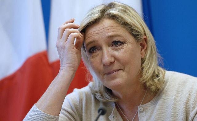 Marine le Pen je bila evropska poslanka do lani. FOTO: Patrick Kovarik/Afp