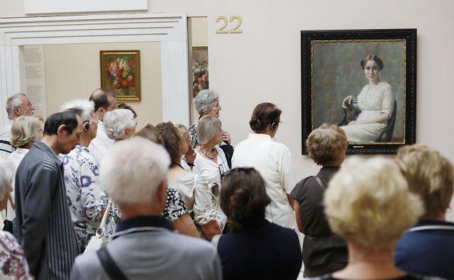 Obiskovalci Narodne galerije si bodo lahko ogledali retrospektivo Ivane Kobilce skoraj štiri desetletja po zadnji iz leta 1979. FOTO: Leon Vidic/Delo