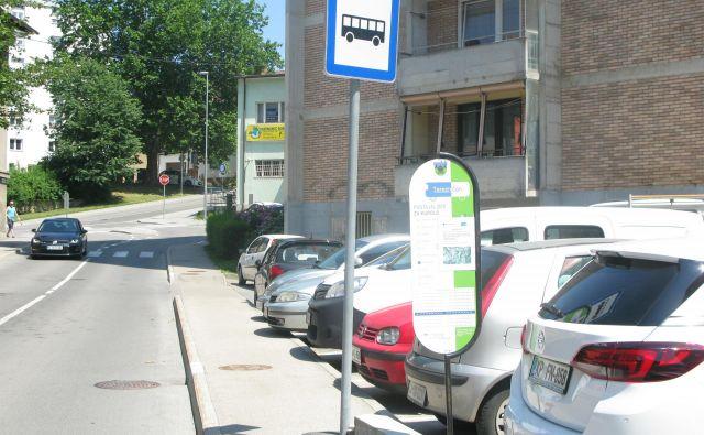 Avtobusno postajališče za Terezenčana. Foto Polona Malovrh