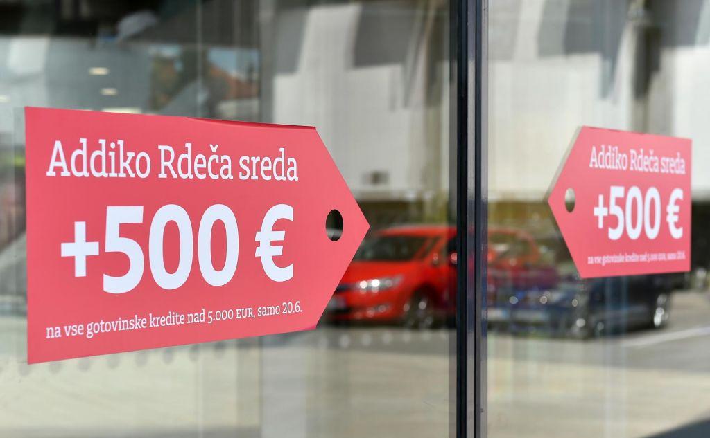 Addiko »rdeča sreda« – vsem strankam dodatnih 500 evrov ob sklenitvi kredita