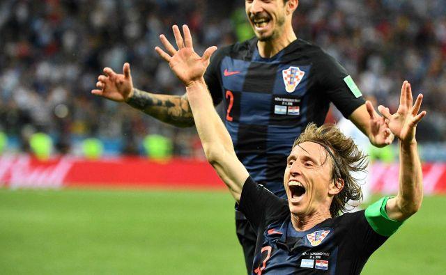 Luka Modrić je povsem zasenčil Argentino in potrdil, da je v vrhunski formi. FOTO: AFP