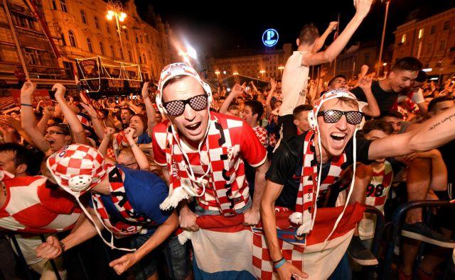 Slavje v Zagrebu. FOTO: AFP