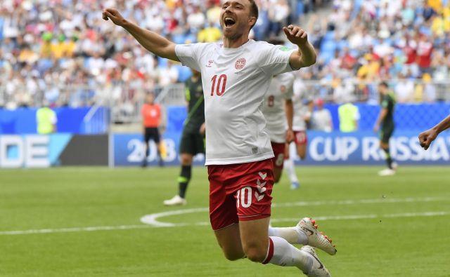 Christian Eriksen je poskrbel za zgodnje vodstvo Danske.