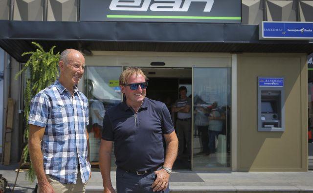 Ingemar Stenmark in Bojan Križaj na odprtju Elanovega muzeja v Begunjah. FOTO: Jože Suhadolnik