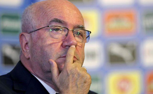 Carlo Tavecchio je bil predsednik italijanske nogometne zveze 2014-2017. Foto Reuters