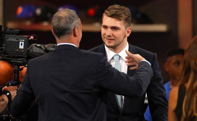 Luka Dončić bo šele v zadnjem trenutku vedel, ali bo na voljo selektorju. FOTO: Mike Stobe/AFP