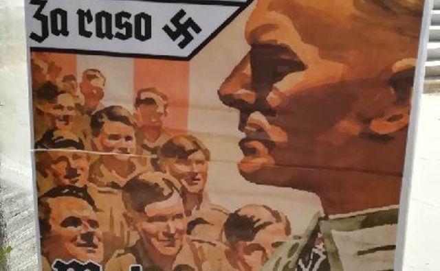 Eden izmed plakatov, ki so se zjutraj pojavili v središču Velenja.