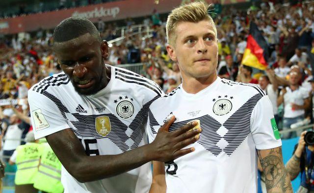 Veliki nemški junak je postal Toni Kroos. FOTO: Reuters