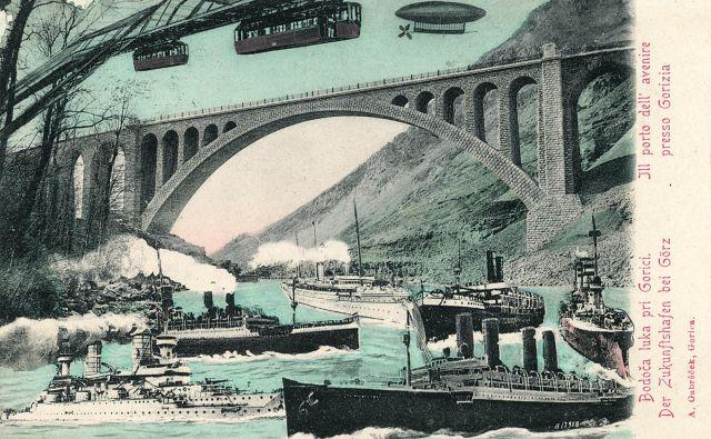 Tako so si pred stoletjem predstavljali prihodnost Soče.<br /> Foto arhiv M. Š.
