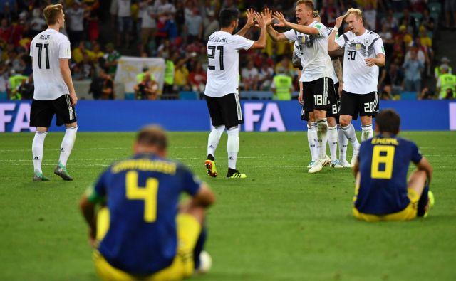 Nemci so slavili, Švedi pa žalovali. FOTO: AFP