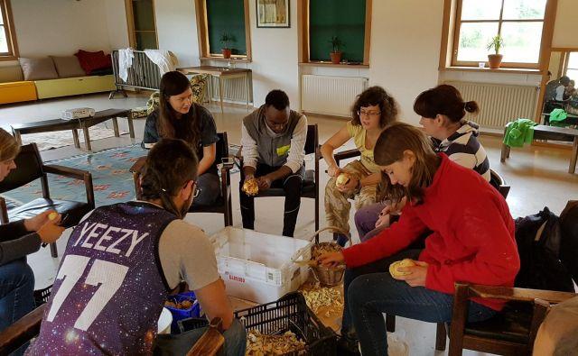 Mitjeva družina je na otoku Koivusaari na Finskem skupaj z drugimi prostovoljci pomagala pri delu na kmetiji, ki se je ukvarjala z ekološko pridelavo hrane. FOTO osebni arhiv
