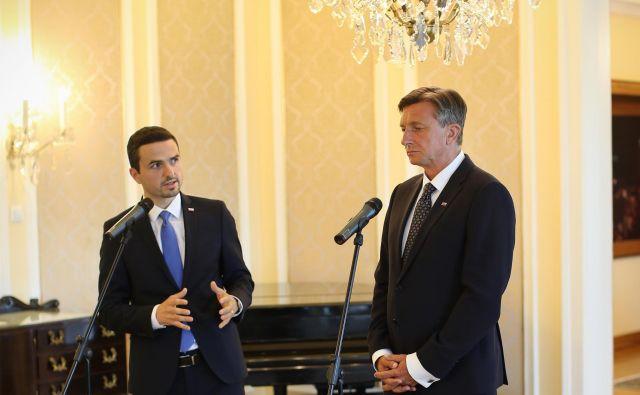 Pahor je napovedal, da bo pogovore z vodji poslanskih skupin o tem, kdo ima parlamentarno večino za sestavo vlade, opravil v ponedeljek in torek prihodnji teden. FOTO: Jure Eržen/Delo