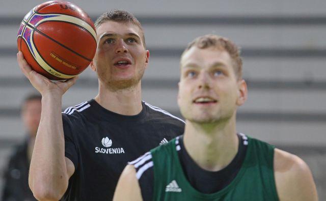 Edo Murić (levo) in Jaka Blažič (desno) optimistično pričakujeta revanšo z bronastimi z lanskega EP.<br /> Foto Tomi Lombar