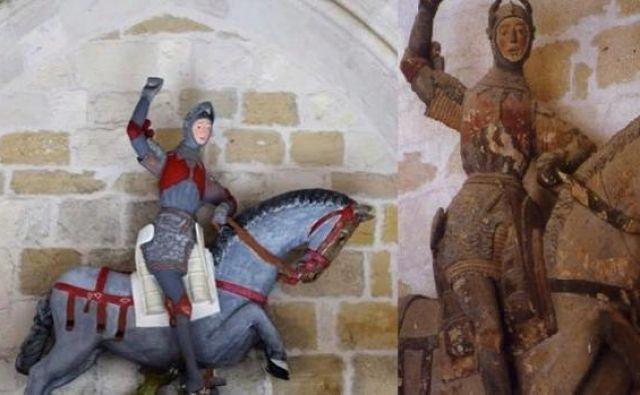 Sveti Jurij iz španskega mesteca Estella je povsem neprepoznaven. FOTO: ACRE