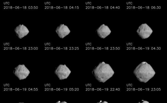Asteroid Rjugu. FOTO:Jaxa, Univerza v Tokiu in sodelavci