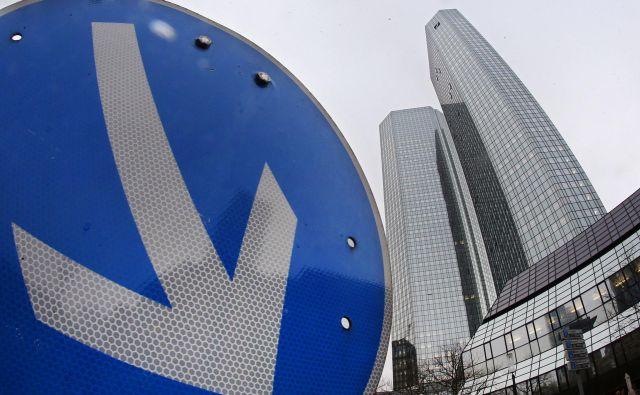 Največji nemški banki so slabe novice iz ZDA prišle ob nepravem času. FOTO:AP