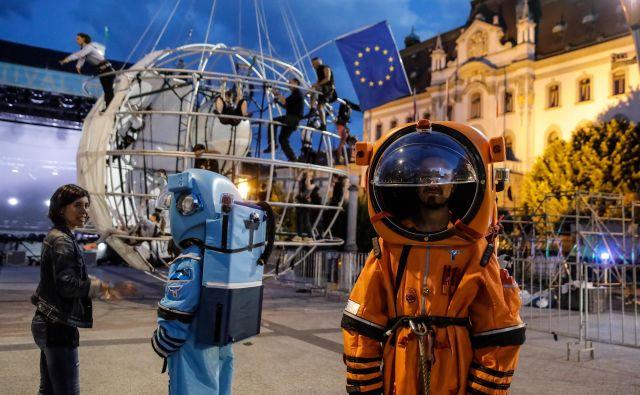 Fotografija z vaje pred svetovno premiero. FOTO: Festival Ljubljana/mediaspeed.net