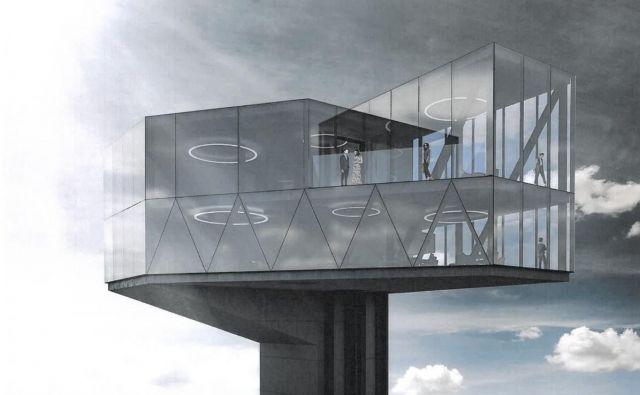 Na vrhu stolpa bi bila kavarna, vse pa oblikovano tako, da spominja na kristal. FOTO: Arhiv Občine Rogaška Slatina