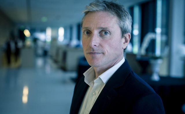 Jeremy White, urednik revije Wired: Prekletstvo našega poklica je, da moramo čakati najdlje. FOTO: Voranc Vogel/Delo