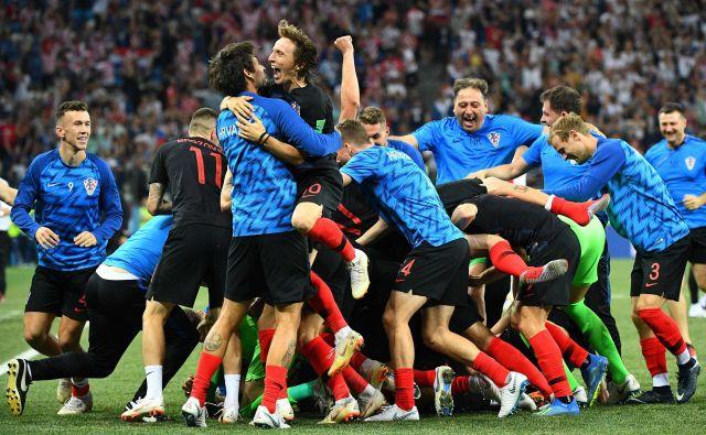 Hrvaško veselje je bilo nepopisno. Foto Johannes Eisele/AFP