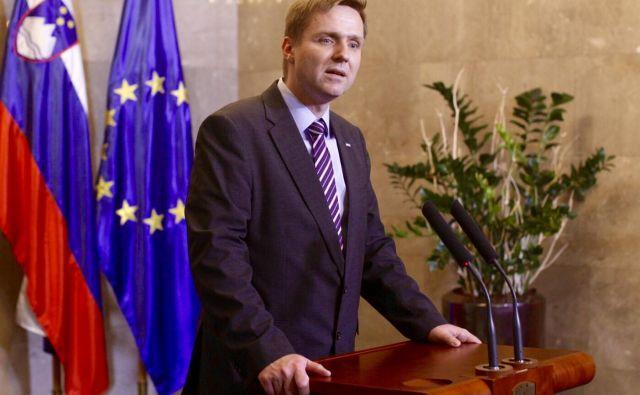 Borut Pahor in Igor Zorčič, vodja poslanske skupine SMC. FOTO: Voranc Vogel/Delo