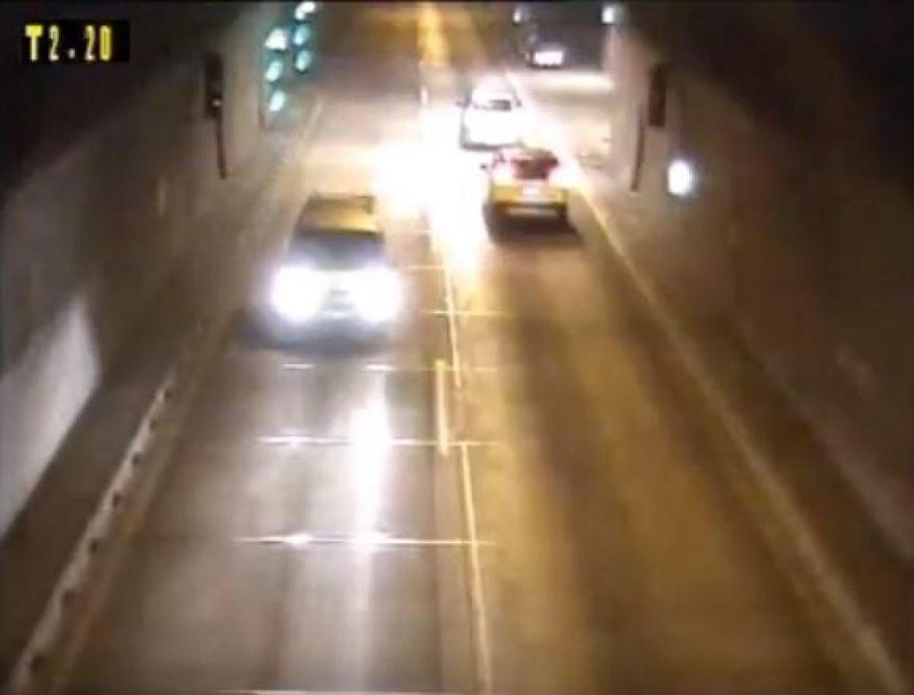 Pijan obračal v trojanskem predoru in ostal brez vozniškega izpita, čaka ga ovadba (VIDEO)
